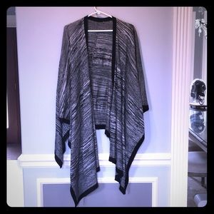 Sweaters - Black and gray sweater poncho